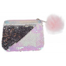 wholesale Wallets: purse with sequins starpak pink zz pouch