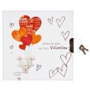 agenda fermé 135x135 pochette valentine starpak