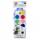 12 colors watercolor paints + starpak cuties brush