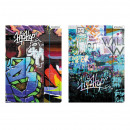 folder with eraser starpak graffiti foil