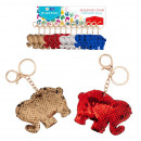 keychain sequin elephant pouch with pendant