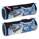 pencil case starpak cats rules pouch