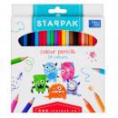 24kol pencil crayons / 180 starpak box