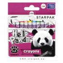 wax crayons 12 col starpak panda box
