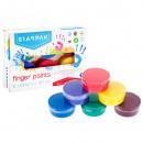 finger paints 6 colors 40ml starpak