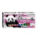 plasticine 12 colors starpak panda powder