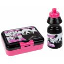 Großhandel Lunchboxen & Trinkflaschen: Wasserflasche + Frühstücksbox Panda-Beutel