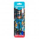 Stift in + 2 Patronen + Starpak Graffiti Radiergum