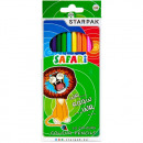 12 color pencil pencils / 180 starpak safari pud