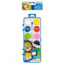Großhandel Geschenkartikel & Papeterie: malt Wasserfarben 12 Farben + Pinsel fi28 starpak