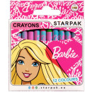 Wachsmalstifte 12 Farben Starpak Barbie Pud