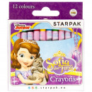 wax crayons 12 colors starpak sofia the first