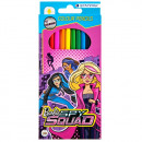 pencil crayons 12 colors / 180 starpak Barbie spy