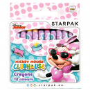 wholesale Licensed Products: wax crayons 12 colors starpak Minnie pud
