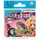 wax crayons 12 colors starpak Barbie spy pud
