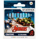 wax crayons 12 colors starpak Avengers pud