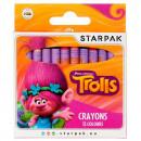 wax crayons 12 colors starpak Trolls pud