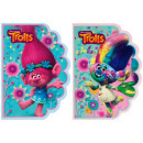 shaped notebook starpak a6 Trolls foil