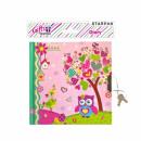 diary closed 135x135 starpak owl pink wor