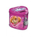 metal piggy bank closed heart Paw Patrol worec
