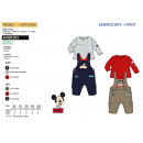 Großhandel Lizenzartikel: Mickey - 2 Stück Overall & Top-Multi