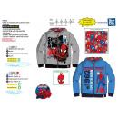 ingrosso Ingrosso Abbigliamento & Accessori: Spiderman - felpa con cappuccio con zip 65% polies