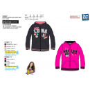 wholesale Fashion & Apparel: Soy Luna - zipped  hood sweatshirt 100% polyester