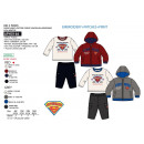 SUPERMAN - ensemble 3 pièces sweat & pant & doudou
