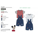 Mickey - set 2 pieces overalls & top 100% c