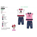 grossiste Articles sous Licence: MINNIE - ensemble 2 pièces pantalon & t-shirt 65%