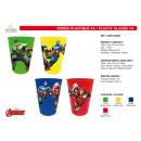 Avengers CLASSIC - 4 Teile Plastikgläser