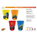 groothandel Foto's & lijsten: Blaze - 4 delen plastic glazen