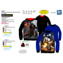 Star Wars VII - zipped hood sweatshirt 100% polyes