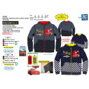 Cars - hoody ritssluiting 100% polyester