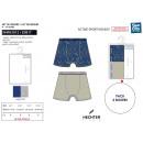 grossiste Vetement et accessoires: HECHTER STUDIO - lot de 2 boxers imprimes 95% cott