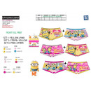wholesale Licensed Products: Minions - set of 2 shorty prints 95% cotton /