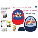 Minions - sublimated 100% coton cap