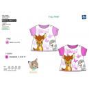Großhandel Shirts & Tops: BAMBI - T-Shirt  mit kurzen Ärmeln der volle 100%