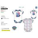 wholesale Licensed Products: Paw Patrol - pack of 2 100% coton bodysuits