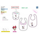 MINNIE - set 2 bavoirs 100% coton
