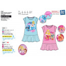 wholesale Dresses: Princess - short  sleeve dress 65% polyester / 3