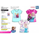 wholesale Licensed Products: frozen - Short Cuff T-Shirt 100% coton