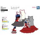 ingrosso Gonne: LADY BUG - vestito  s / m Ruffles Skirt 100% coto