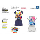 Großhandel Lizenzartikel: DC SUPER HERO GIRLS - pyjacourt T-Shirt & sh 1