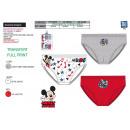 ingrosso Intimo: Mickey - 3 slip Kit 100% cotone