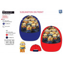 wholesale Scarves, Hats & Gloves: Minions - sublimated 100% polyester cap