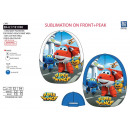 Super Wings - cap sublimated 100% polyester /