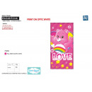 CARE BEARS - BISOUNOURS - serviette de plage cotto
