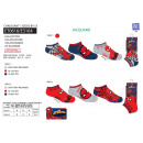wholesale Licensed Products: Spiderman - pack of 3 low socks 55% c