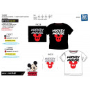 Mickey - T-Shirt 100% co Pailletten kurze Manschet